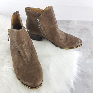 Lucky Brand Bryton Leather Ankle Bootie Sz 8.5